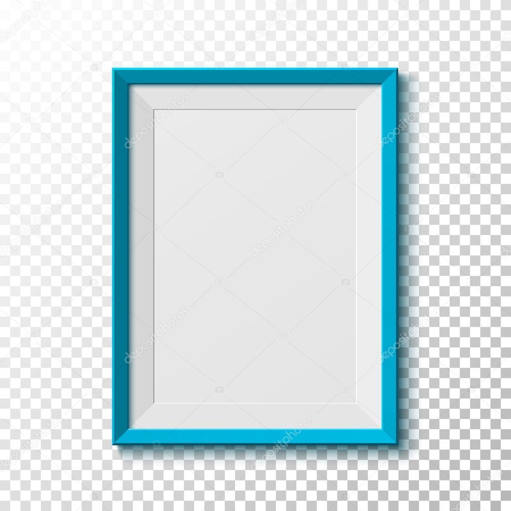 Vector marco azul del marco azul en blanco sobre fondo transparente vector de stock - Marcos transparentes ...