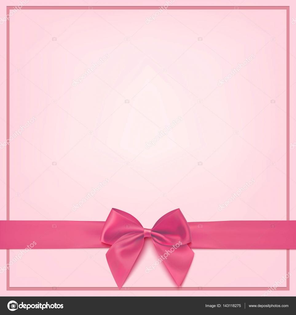 Blank pink greeting card template. — Stock Vector © Aleksandrsb ...