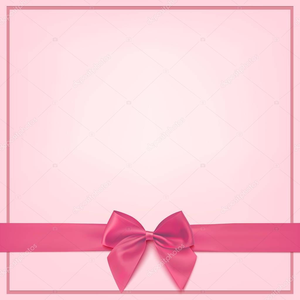 blank pink greeting card template   u2014 stock vector