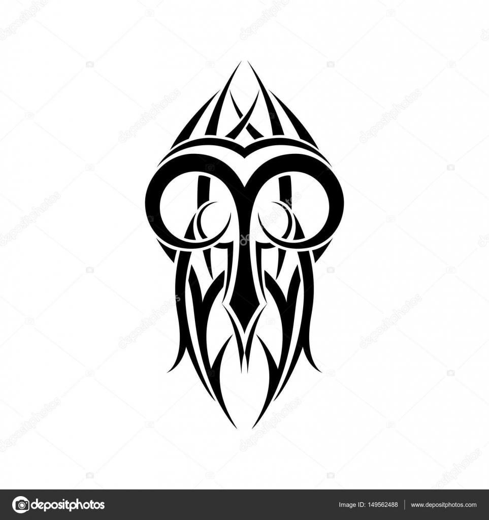 Aries zodiac abstract tribal tattoo design stock vector aries zodiac abstract tribal tattoo design vector illustration vector by aleksandrsb biocorpaavc