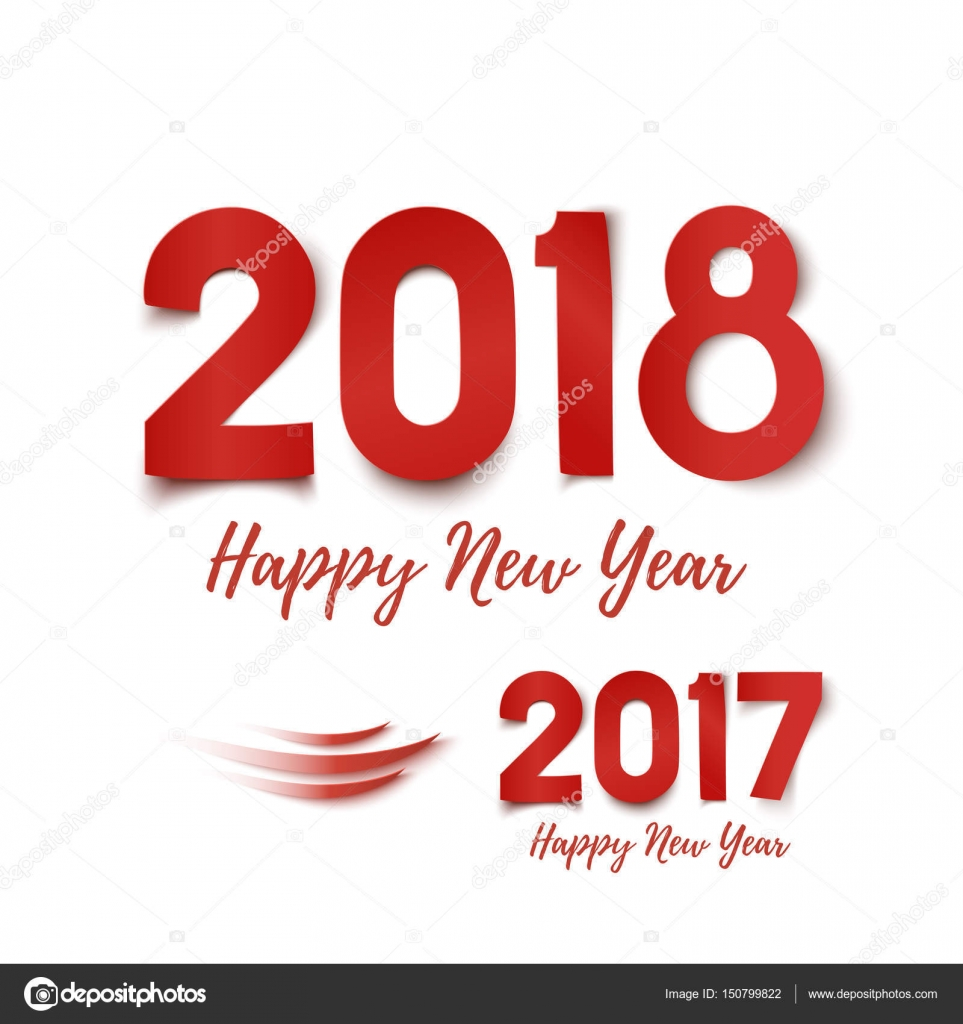 happy new year 2017 2018 greeting card template stock vector