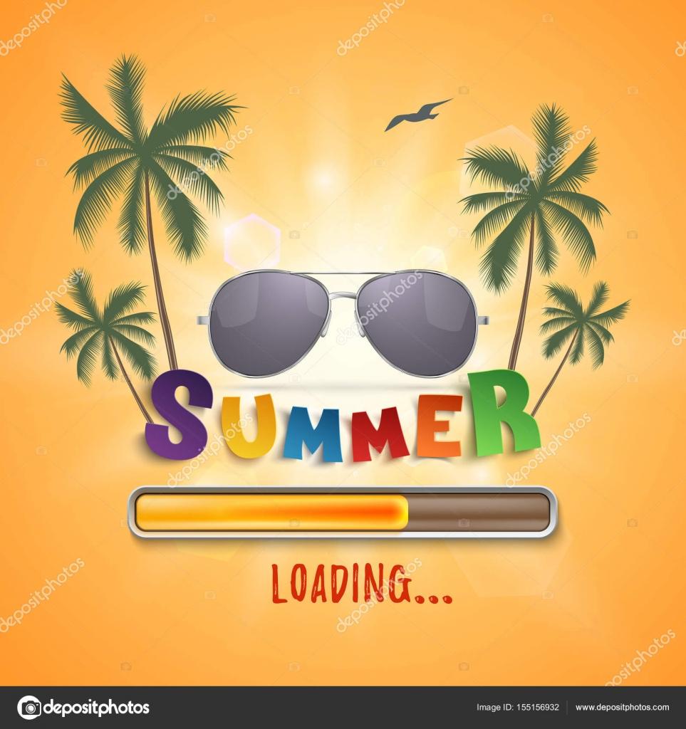 online goditi un grande sconto scegli genuino Caricamento sfondo con palme Gabbiano e occhiali da sole di ...