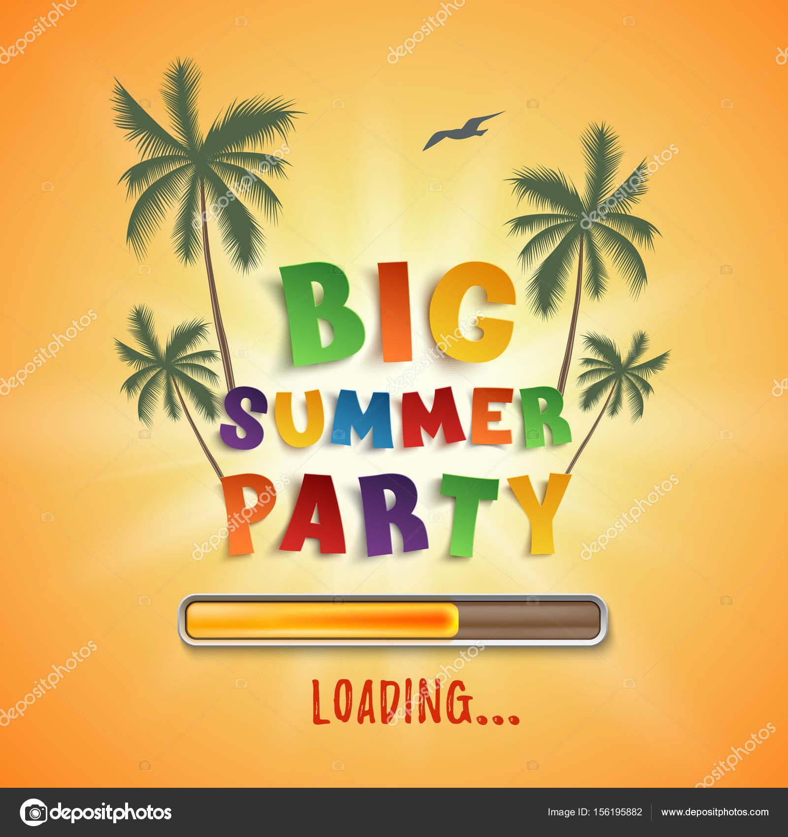 Große Sommer-Party laden Plakat — Stockvektor © Aleksandrsb #156195882