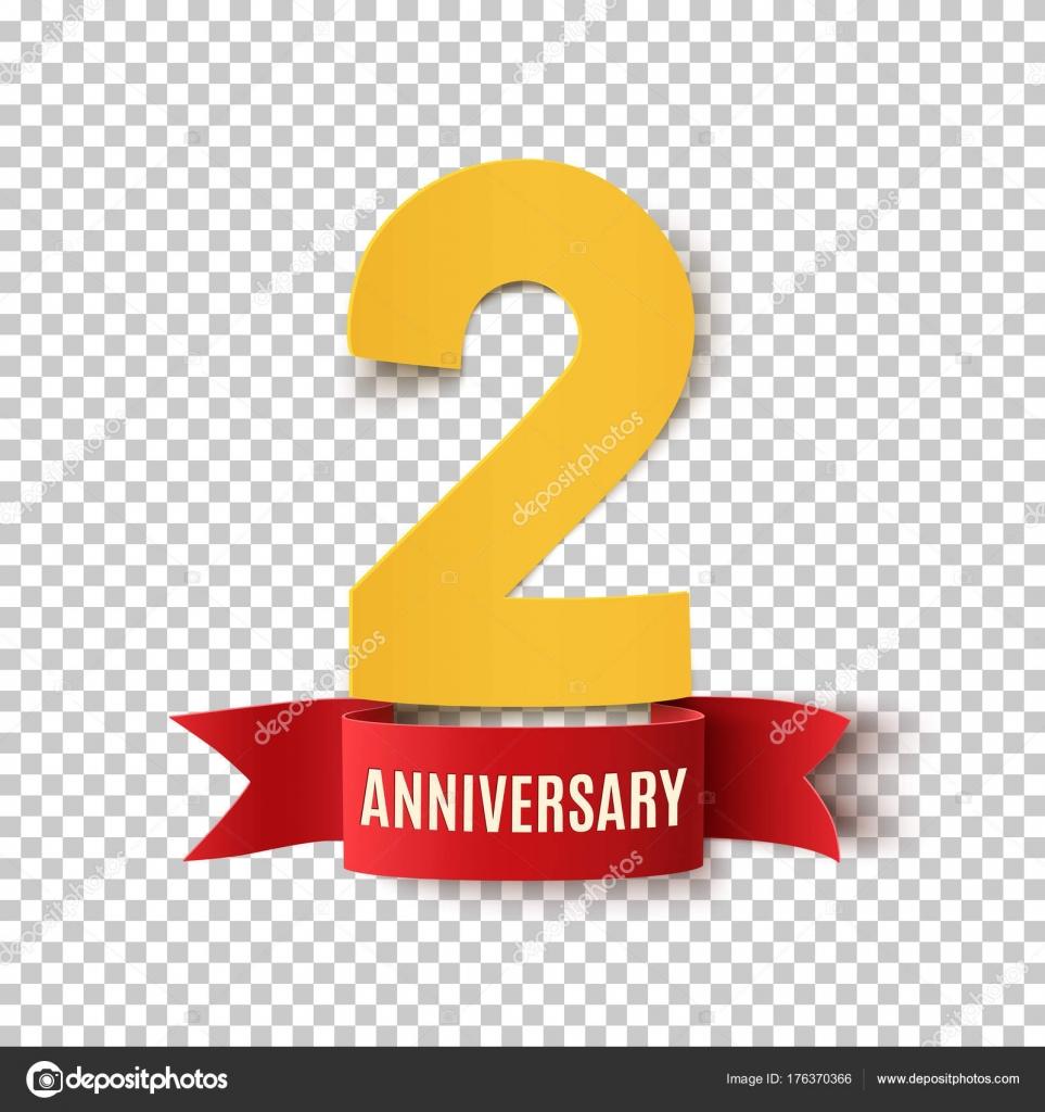 Plantilla de diseño dos años aniversario — Archivo Imágenes ...