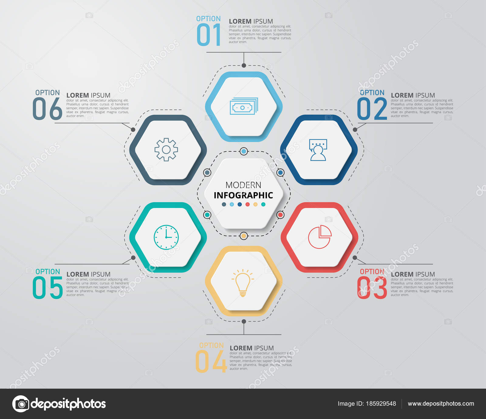 Hexagon Infographic Design Template Can Used Business Education Web