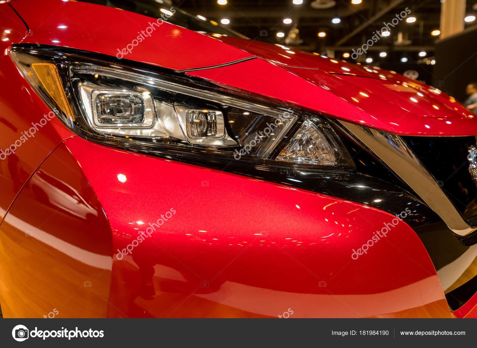 Nieuwe 2018 Nissan Leaf Elektrische Auto Redactionele Stockfoto