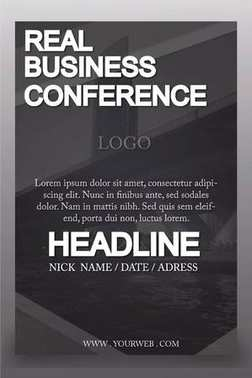 Business Conference poster design