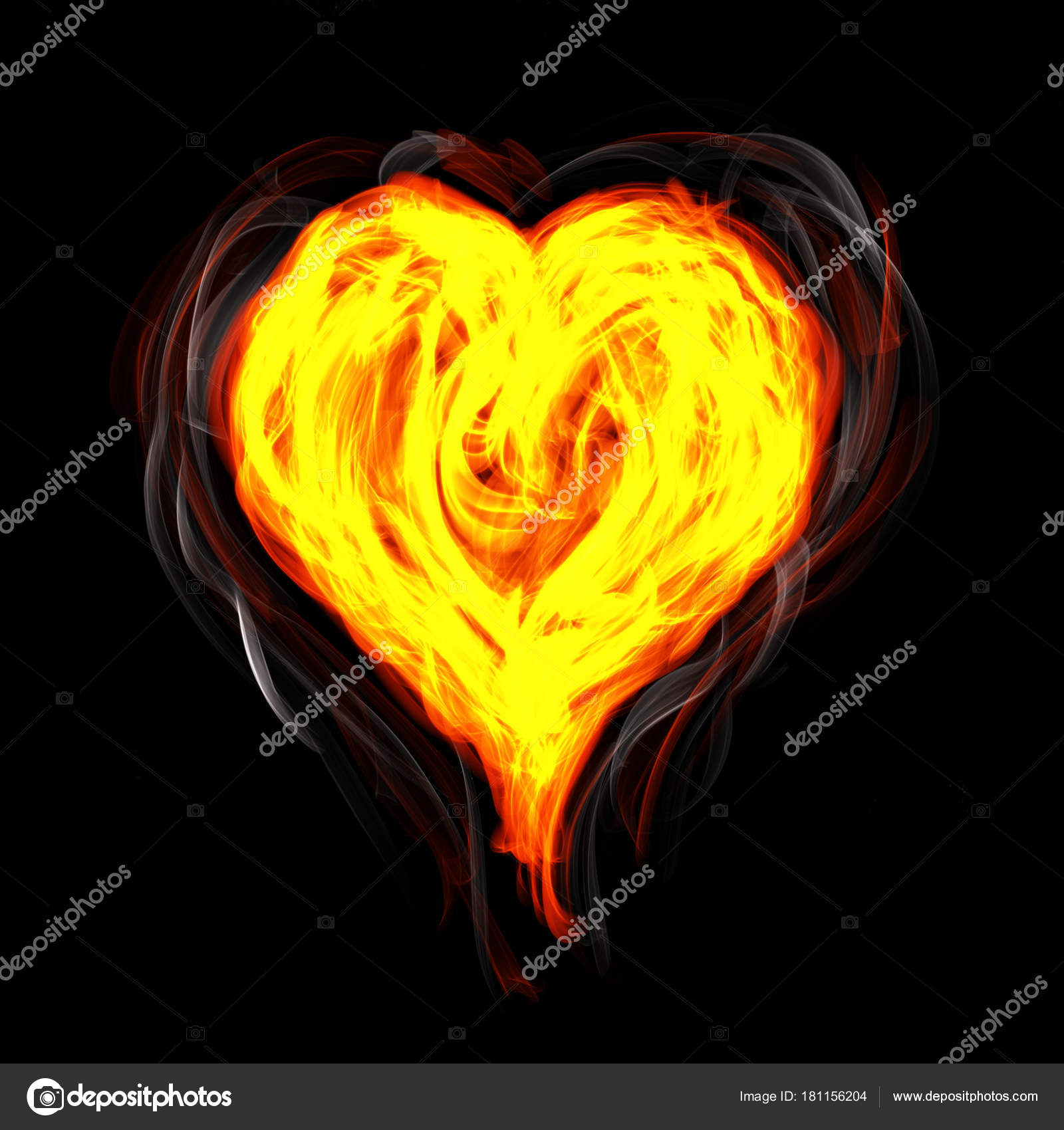 Hot fire heart burning on black background. Passion and desire — Photo by  arrat.darkyugi@gmail.com| ...