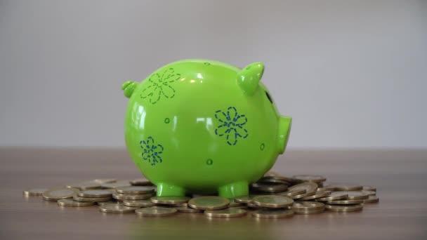 Pénzt takaríthatunk meg. Elhelyezés érméket a malacka Bank.