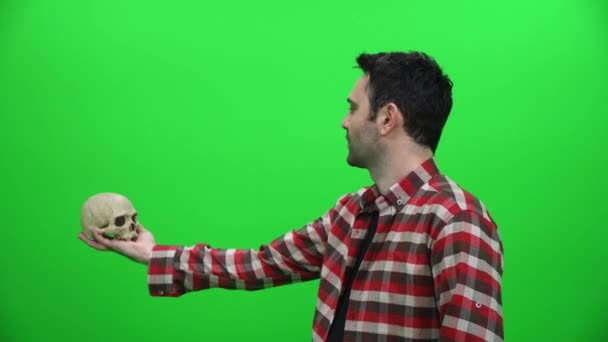 Divadelní herectví koncept na zelené obrazovce