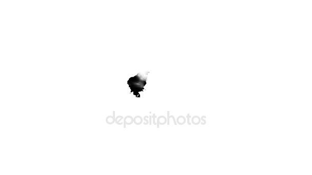 Kapající černý inkoust