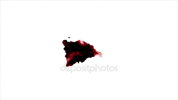 Krevní skvrna na bílém pozadí