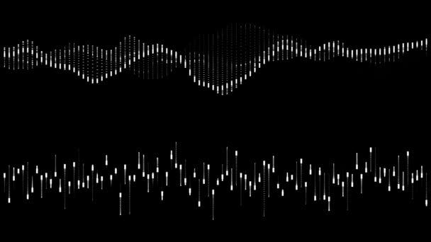 hud, grafisches Equalizer Wellenform-Element