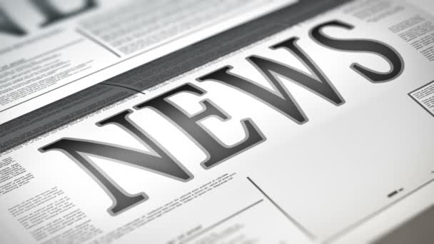 Newspaper with news related text and chart animation