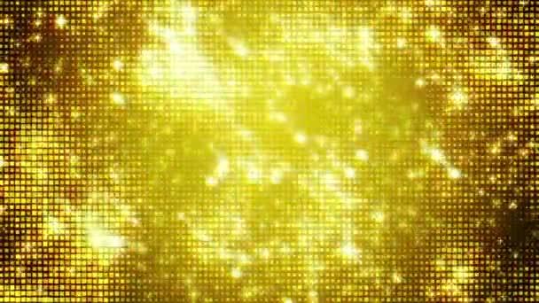 Aranyszínű háttérrel és ragyog, animáció