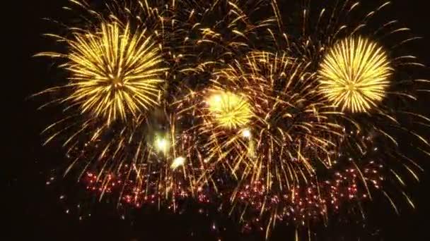 buntes Feuerwerk auf schwarzem Hintergrund