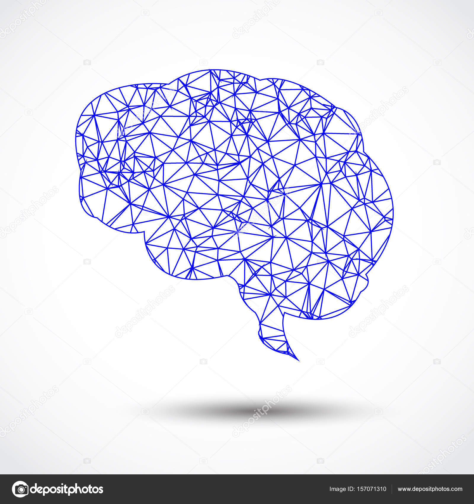 Abstract blue brain mesh on white stock vector pockygallery abstract blue brain mesh on white background vector by pockygallery ccuart Image collections