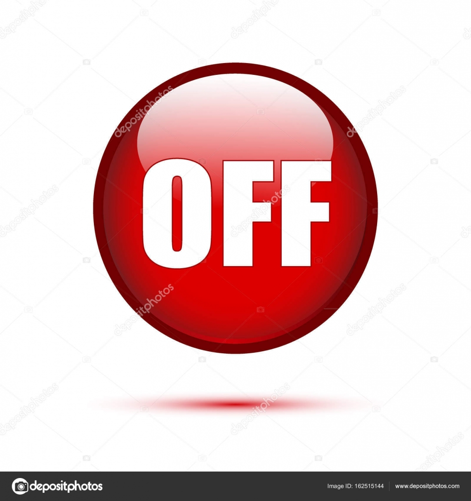 red glossy off button  u2014 stock vector  u00a9 pockygallery  162515144