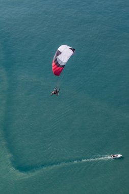 paraglider over Greece coast