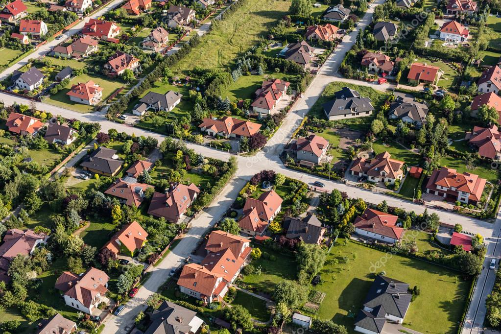 City suburbs near Wrocaw city