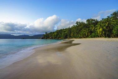 beautiful paradise beach, anse soleil, seychelles