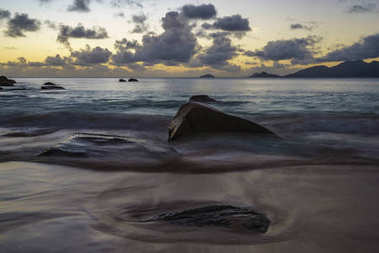 sunset at anse soleil, seychelles 2