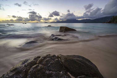 sunset at anse soleil, seychelles 3