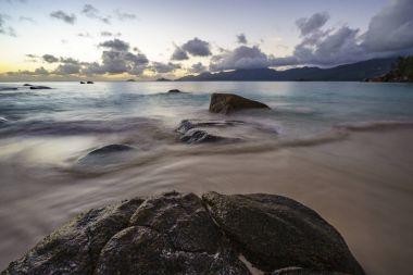 sunset at anse soleil, seychelles 3