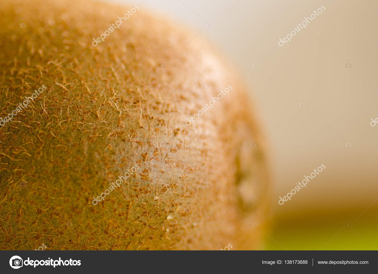 Macro close up hairy healthy juicy kiwi fruit — Stock Photo ...