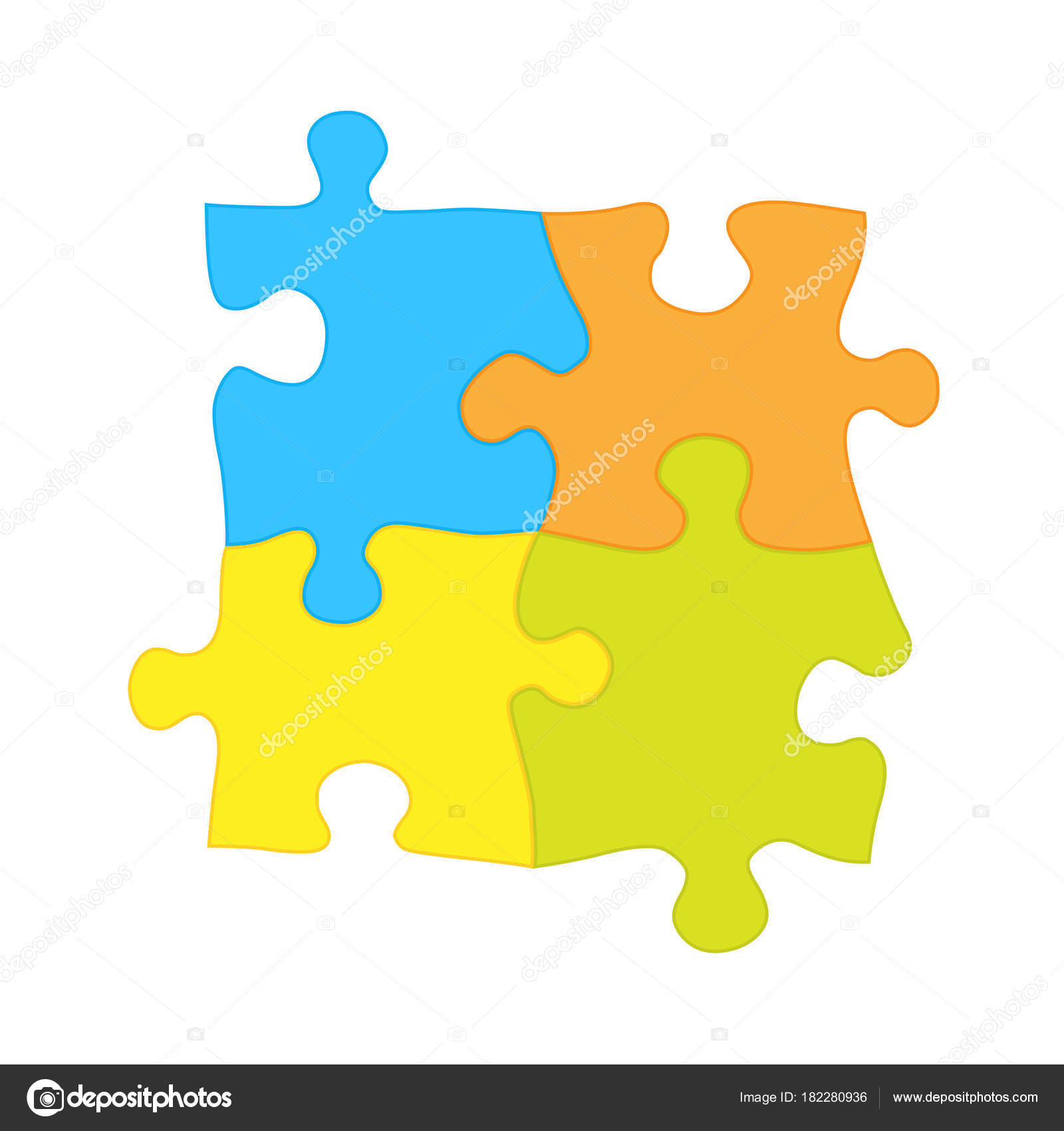 Four Jigsaw Puzzle Pieces