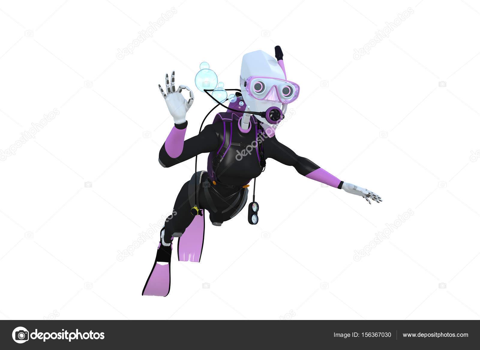 Robot Scuba Diver — Stock Photo © raptorcaptor #156367030