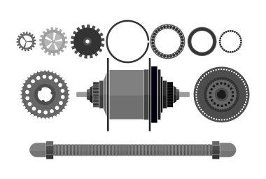 bicycle detail freehub vector