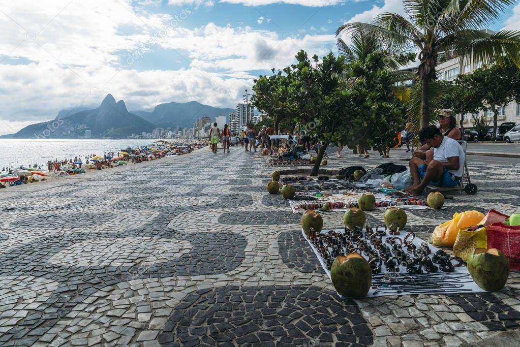 Street market on Ipanema Beach, Rio de Janerio