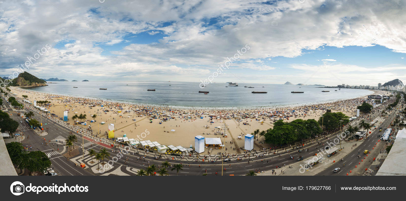 d7518ef0dccdb Aerial panorama of Copacabana beach as party-goers wait for the iconic  fireworks. Three million people are expected to attend the party, the  biggest in the ...