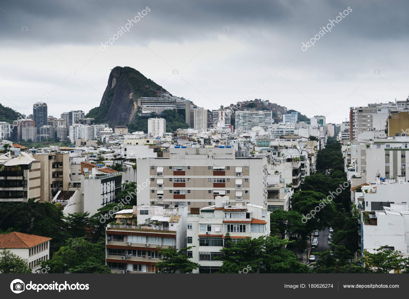 Luftaufnahme Der Stadtteil Ipanema Rio De Janeiro Stockfoto
