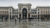 Ingresso alla Galleria Vittorio Emanuele ii in Piazza del Duomo, Milano, Lombardia, Italia