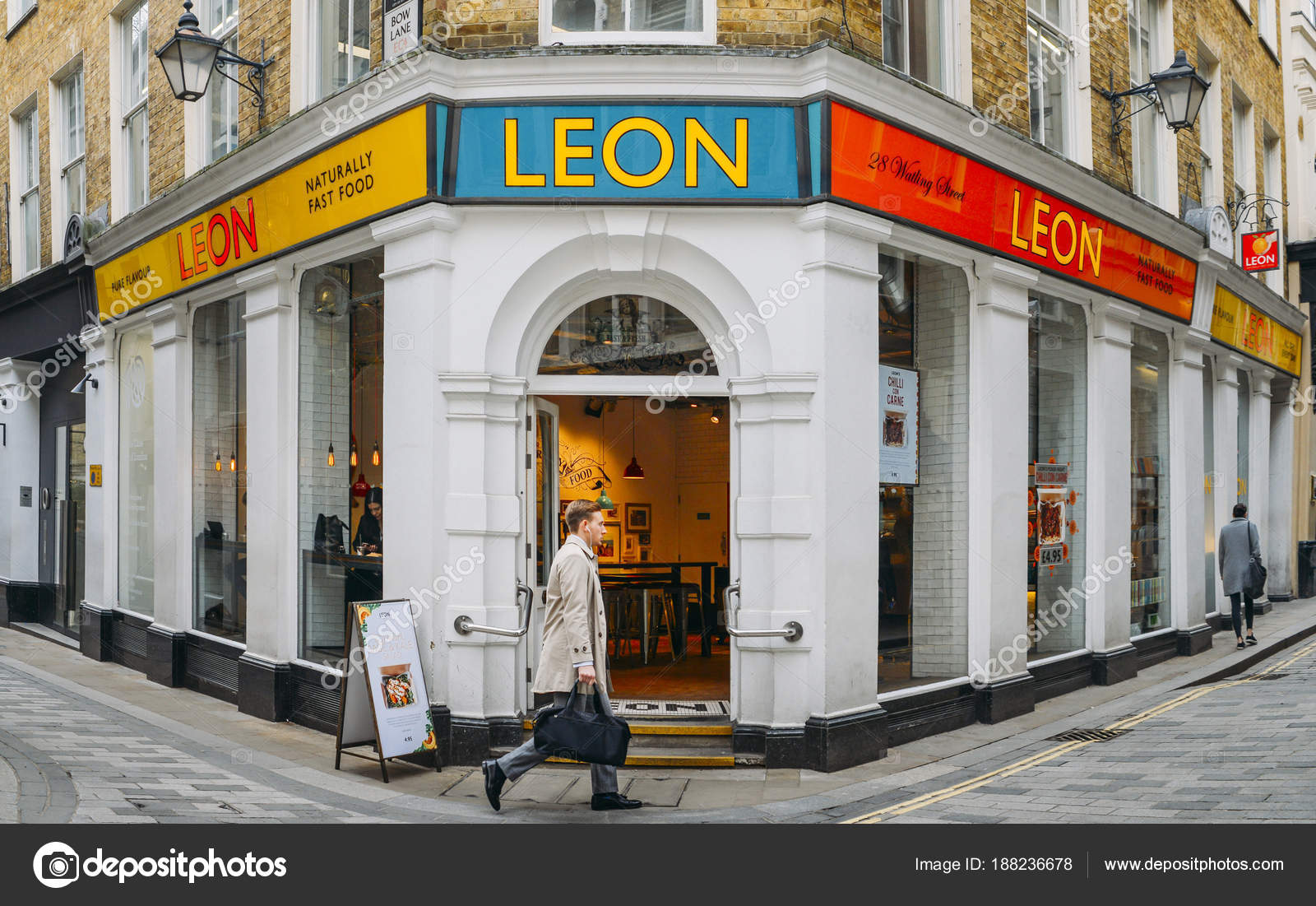 Front View Of The Leon Healthy Fast Food Restaurant In The
