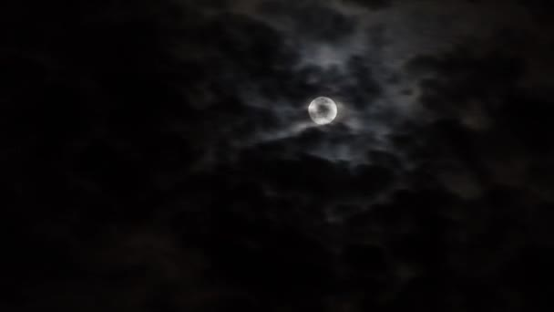 Timelapse of moon at night