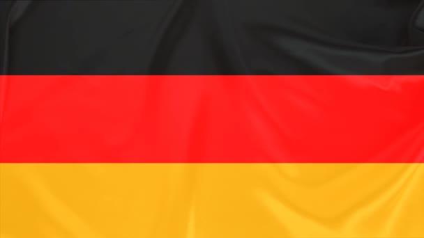 schöne deutsche Seidenfahne drapiert mit kleinen Falten, sanft fließend, Konzept der öffentlichen Ordnung, Wirtschaft, Tourismus, Kopierraum