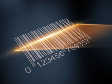 Scan barcode with the laser strip