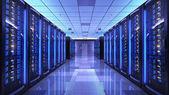 Photo Server racks in server room data center