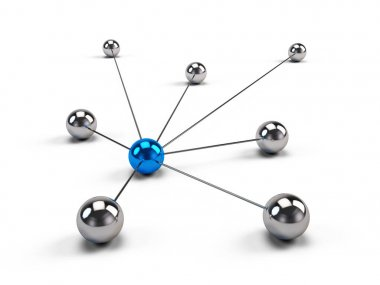 Concept of Network, internet communication and social media