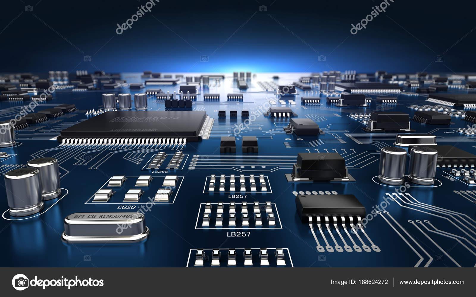 Amazing High Tech Elektronische Pcb Printed Circuit Board Mit Prozessoren Wiring Digital Resources Biosshebarightsorg
