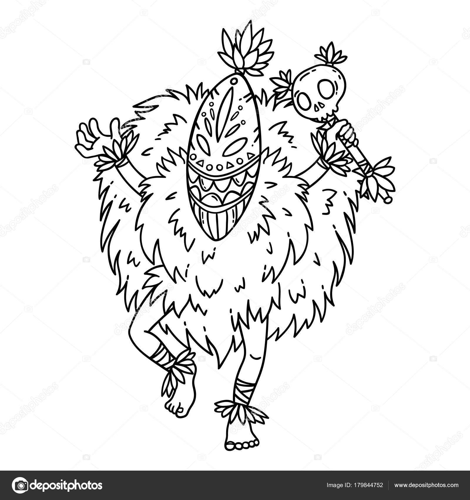 Bailarina Tribal Objetos Aislados Sobre Fondo Blanco Ilustración ...