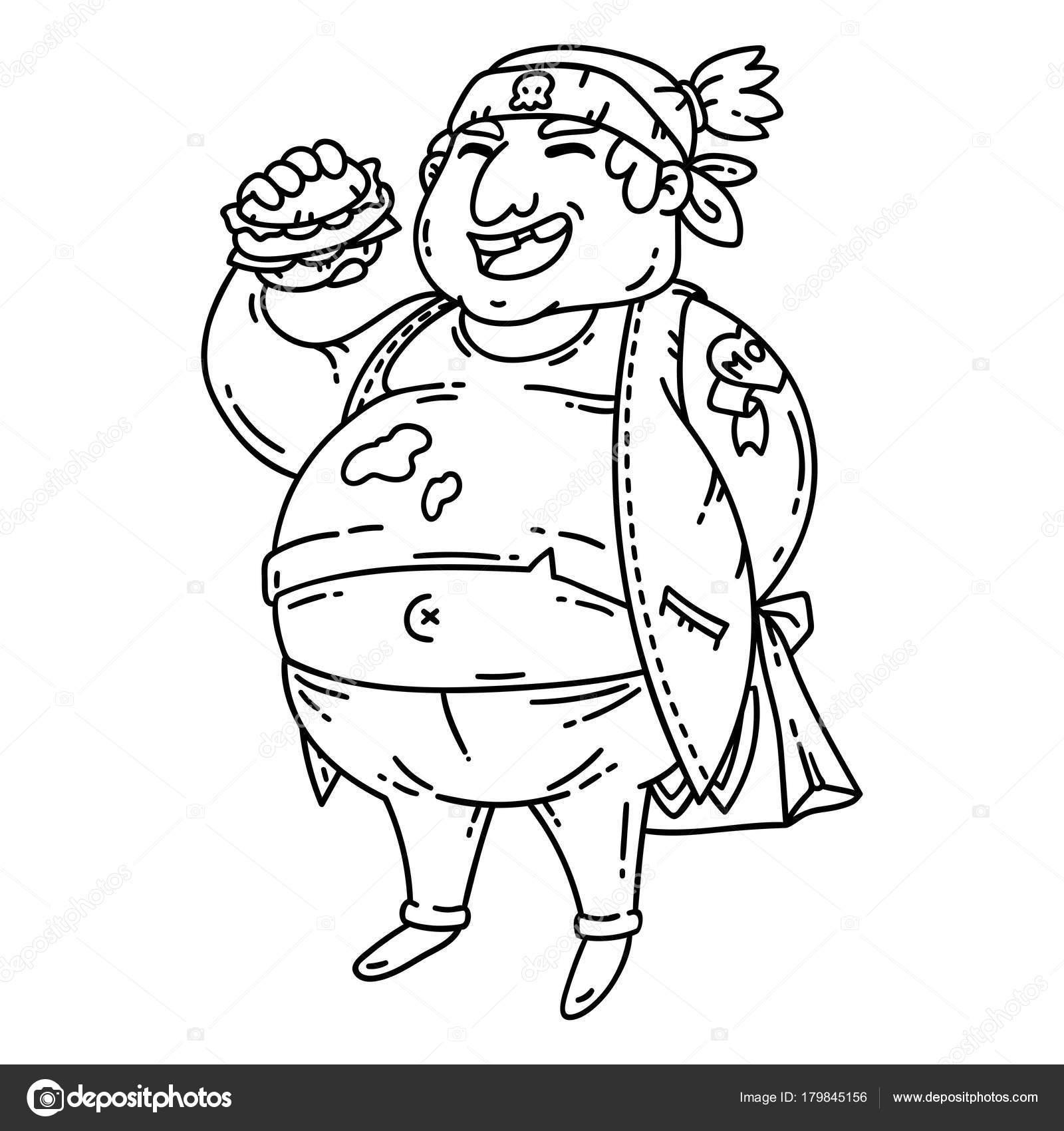 Imágenes Hombres Gordos Para Colorear Hombre Gordo Con