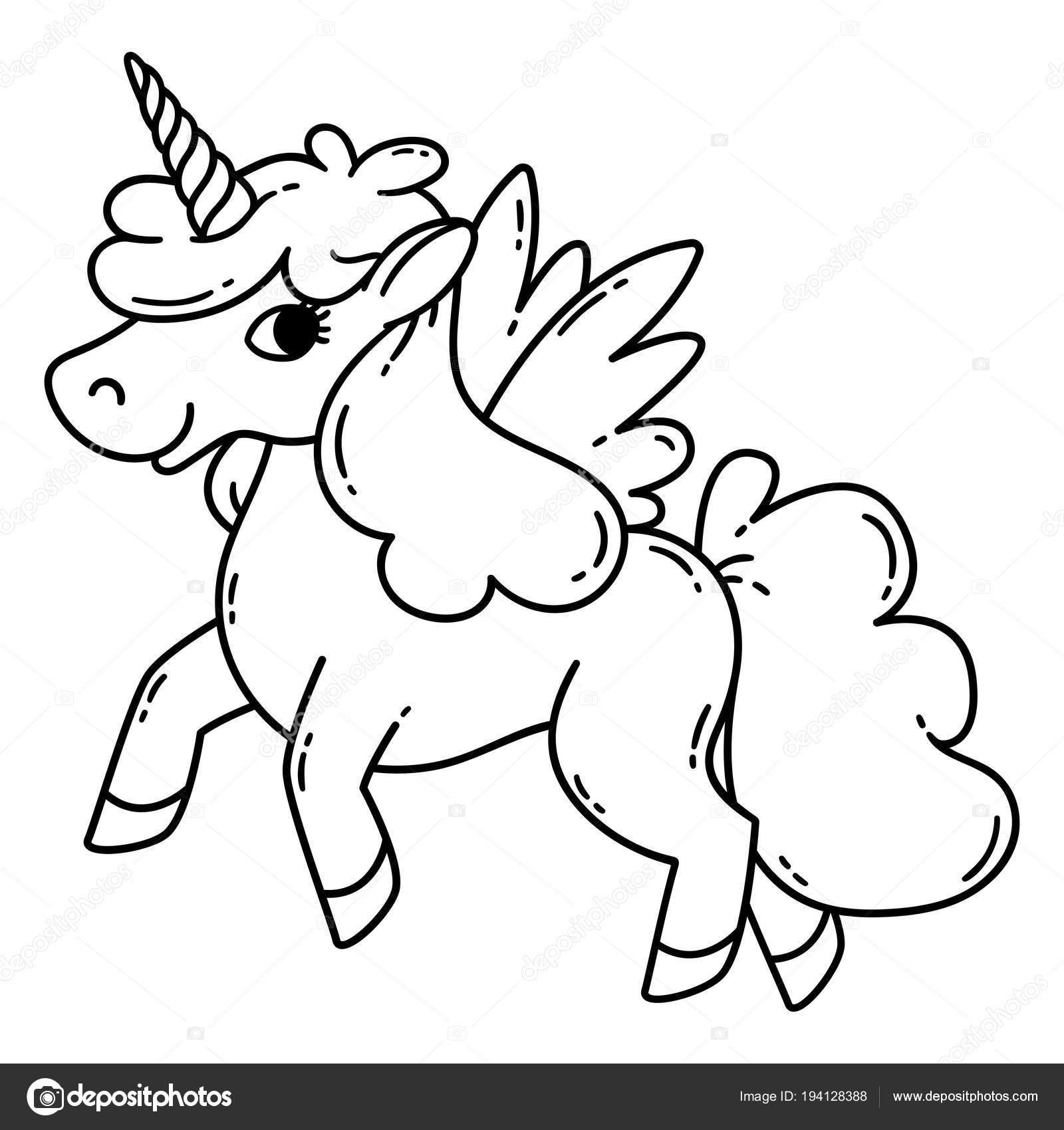 Unicorno Con Le Ali Vettoriali Stock Danamayfay 194128388