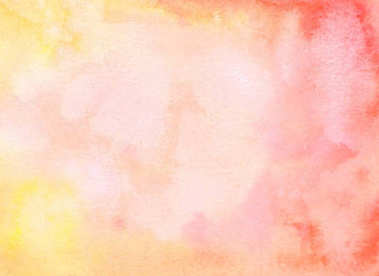 Abstract watercolor light red yellow background with stains.