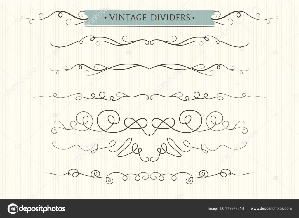 Vector hand drawn flourishes dividers graphic lovely design vector hand drawn flourishes dividers graphic lovely design element set cute vintage borders wedding invitation cards page decoration stopboris Images