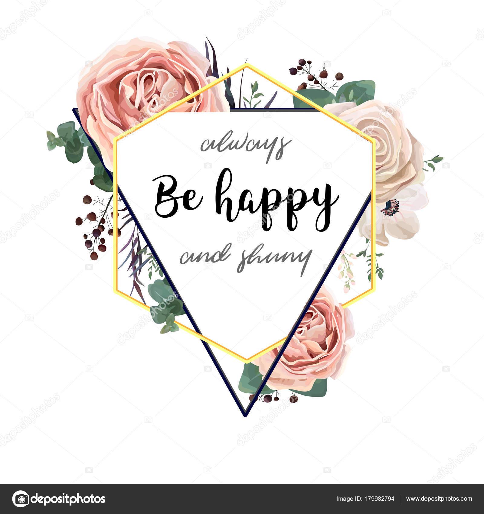 Tarjeta de flor floral de diseño vectorial. Triángulo botánica ...