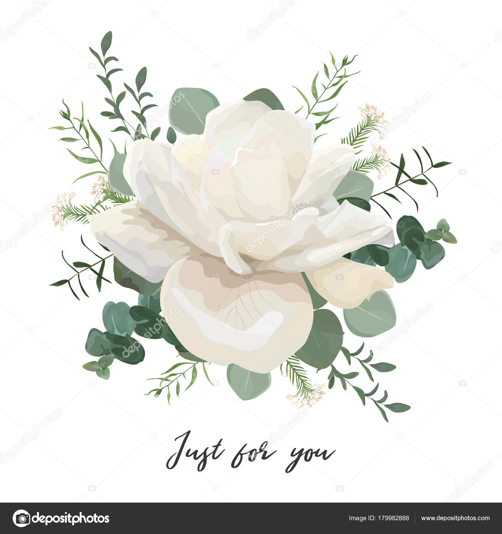 Flower Bouquet Floral Bunch Vector Design Object Element White Pale ...